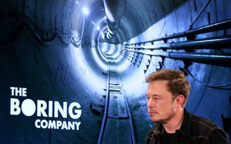 """Elonas Muskas įkūrė """"The Boring Company"""""""