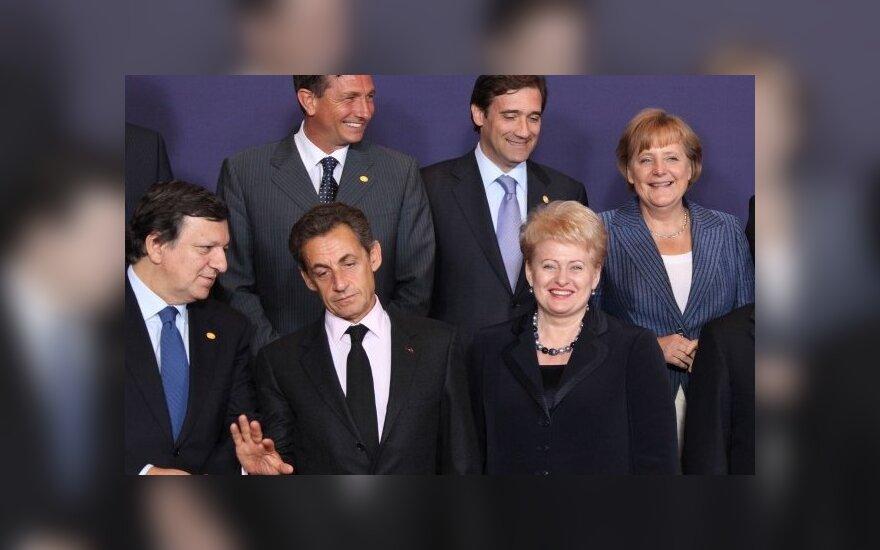 Dalia Grybauskaitė Briuselyje Šiaurės ir Baltijos valstybių bei vyriausybių vadovų (NB6) susitikime