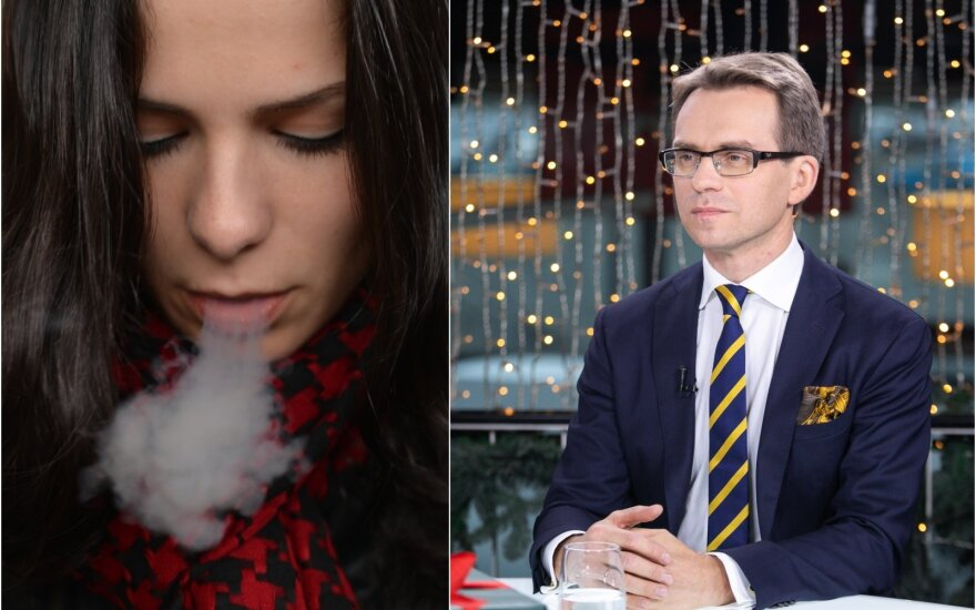 Gydytojas R. Kubilius įspėjo apie elektroninių cigarečių keliamą žalą.