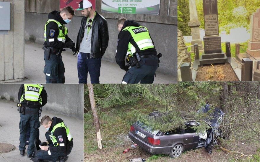 Дежурство с вильнюсскими патрульными: первый вызов - на могилу Басанавичюса
