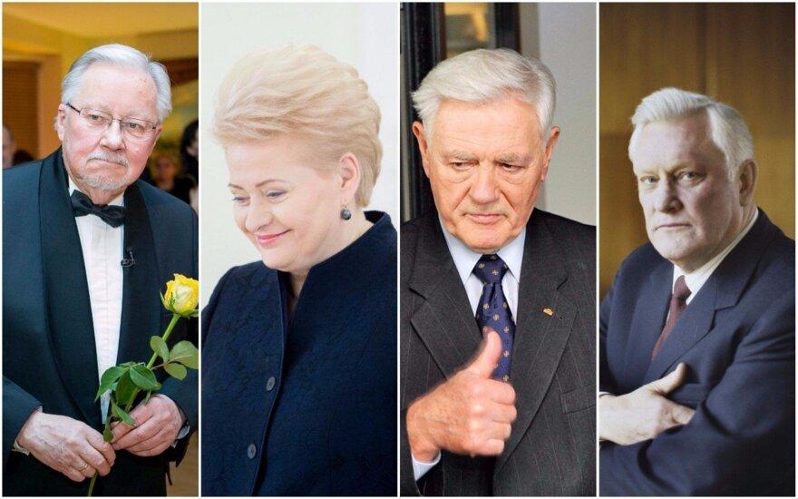 Vytautas Landsbegis, Dalia Grybauskaitė, Valdas Adamkus, Algirdas Brazauskas