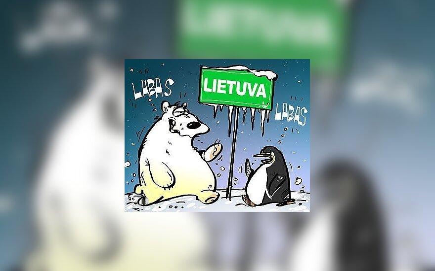 В Литве зафиксирована температура ниже -20 градусов