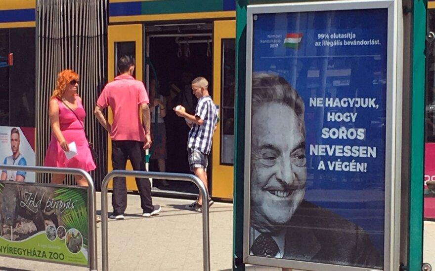 Венгерские плакаты против Сороса вызывают возмущение в стране и мире