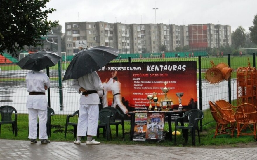 444-й день рождения города Радвилишкис прошел под дождем