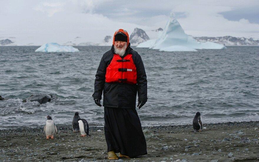 Rusijos stačiatikių bažnyčios patriarchas laikė mišias Antarktidoje