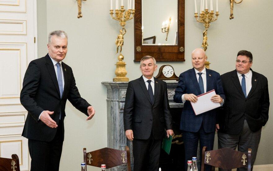 Gitanas Nausėda, Viktoras Pranckietis, Saulius Skvernelis, Linas Linkevičius
