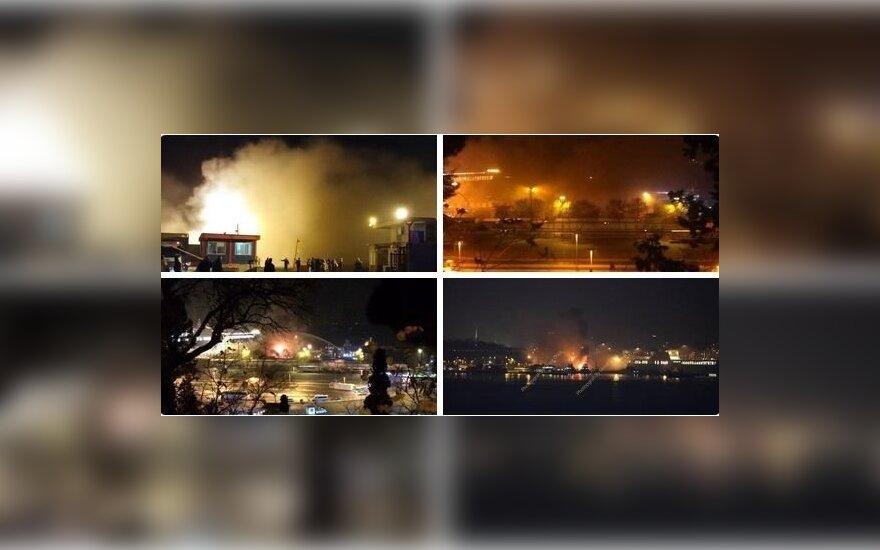 Серия взрывов прогремела на вокзале в Стамбуле