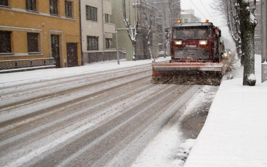 Снег стал испытанием для каунасских властей