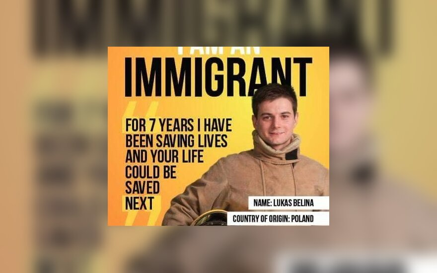 Lukas Belina. 'I am an Immigrant' Poster Campaign