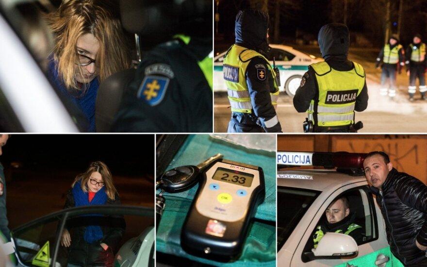 Рейд в Вильнюсе: пьяная женщина-водитель, правдоискатель и другие нарушители