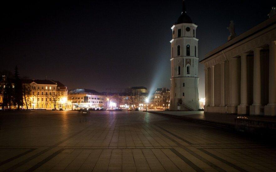 В ходе акции Час Земли в Вильнюсе выключили свет