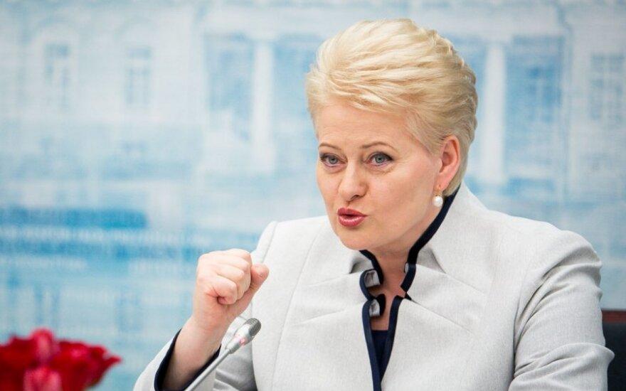 Грибаускайте рассказала, какими видит отношения с Россией