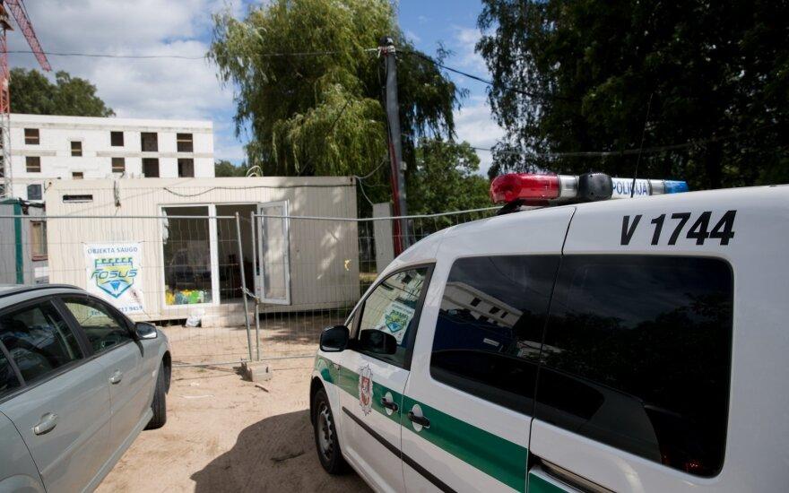 На стройке в Вильнюсе пострадал рабочий