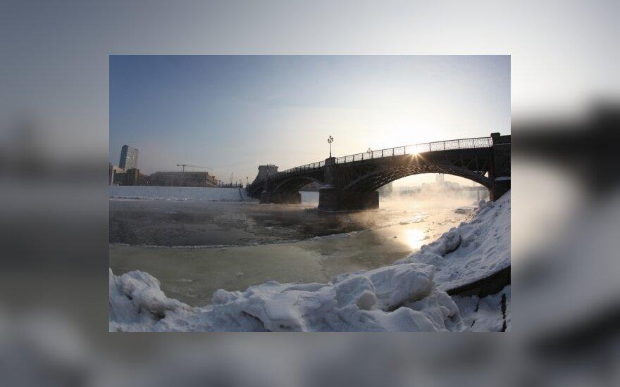 Заснеженная столица Литвы