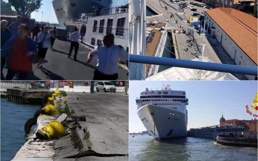 ВИДЕО: в Венеции круизный лайнер столкнулся с теплоходом