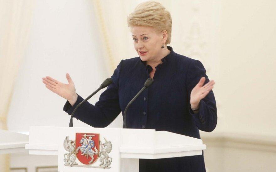 Dalia Grybauskaitė: Jestem zadowolona z oczyszczenia się władz Sejmu