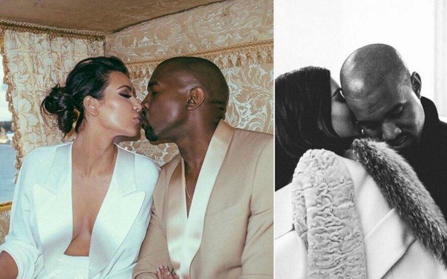 Kim Kardashia ir Kanye Westas