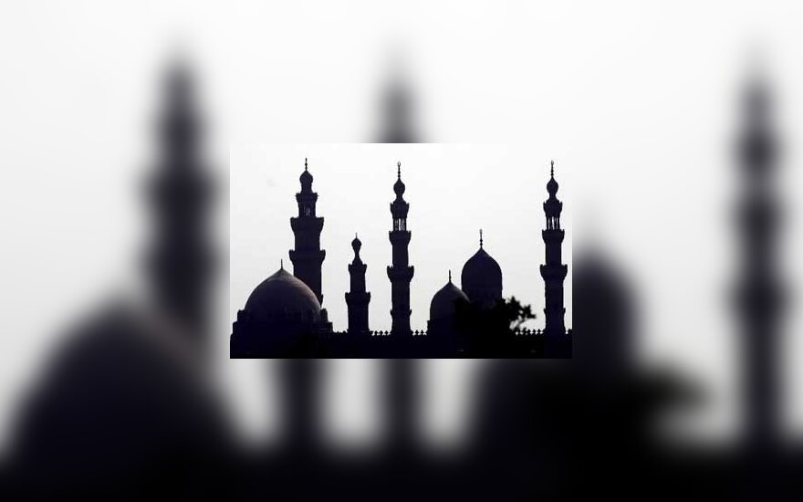 Mečetės Kaire siluetas.