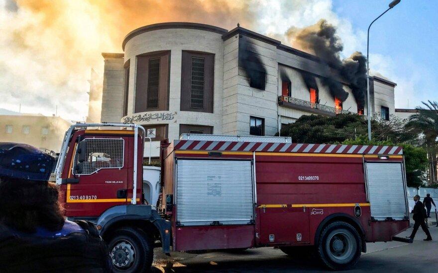 Libijoje per Užsienio reikalų ministerijos užpuolimą žuvo 3 žmonės