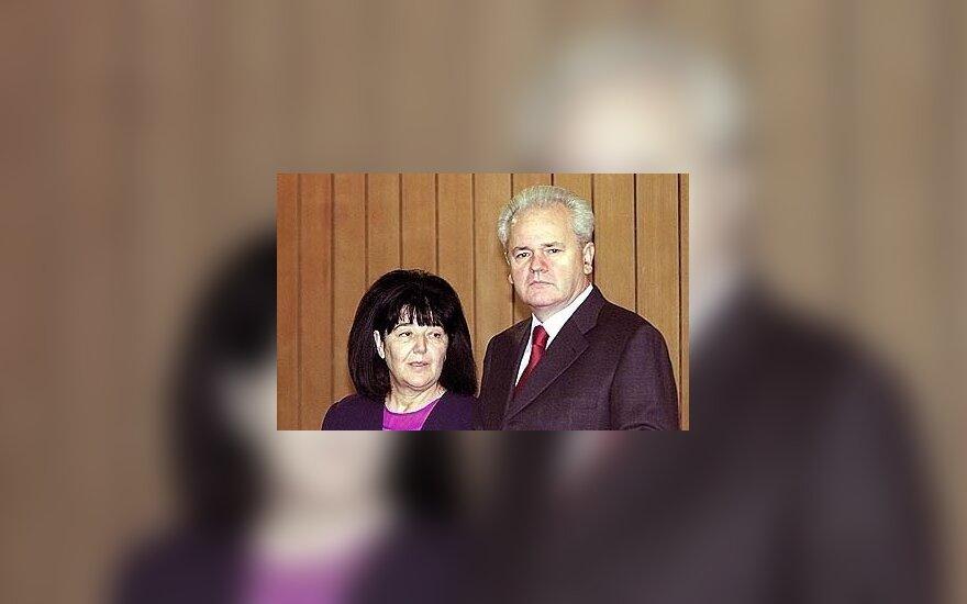 Slobodanas Miloševičius su žmona Mira Markovič