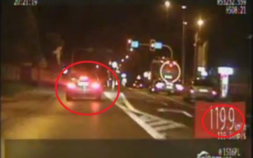 Pościg za piratką drogową. Źródło: policja.pl