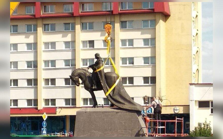 В Лиде установили памятник основателю города Гедимину
