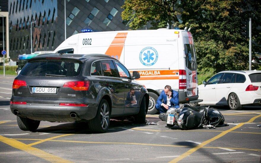 В Вильнюсе был сбит водитель мотороллера