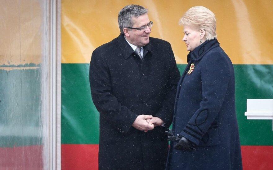 Коморовский: Литва и Польша сегодня идут в одном направлении