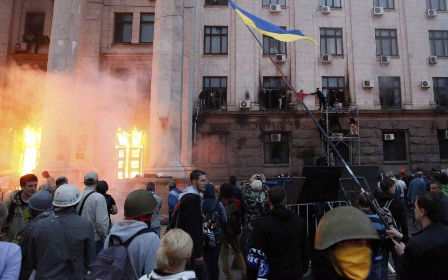 В Одессе активисты почтили память погибших в Доме профсоюзов в 2014 году
