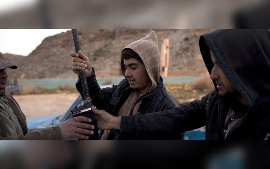 Libijos opozicijos kovotojas