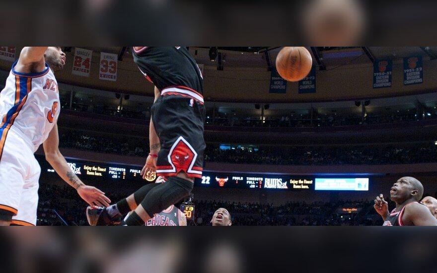 "Derricko Rose'o (""Bulls"") dėjimas"