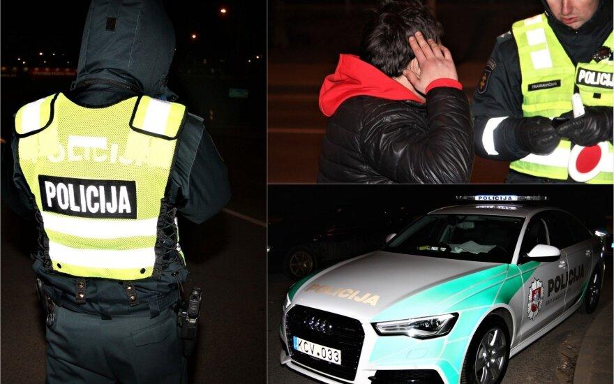 Ночной рейд в Вильнюсе: в центре внимания оказались водители без прав