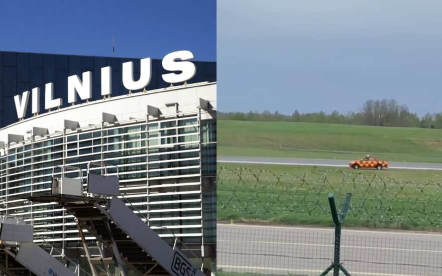 Vilniaus oro uoste nufilmavo, kaip pervažiavo lapę.