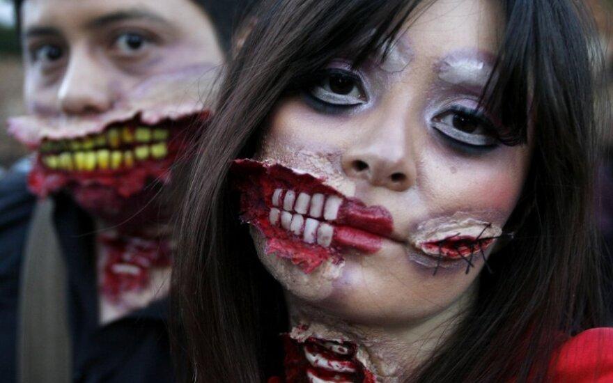 Bogotos gatves buvo užplūdę tūkstančiai zombių