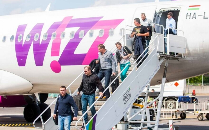 Самолёты Wizzair в из Вильнюса в Тель-Авив не летят
