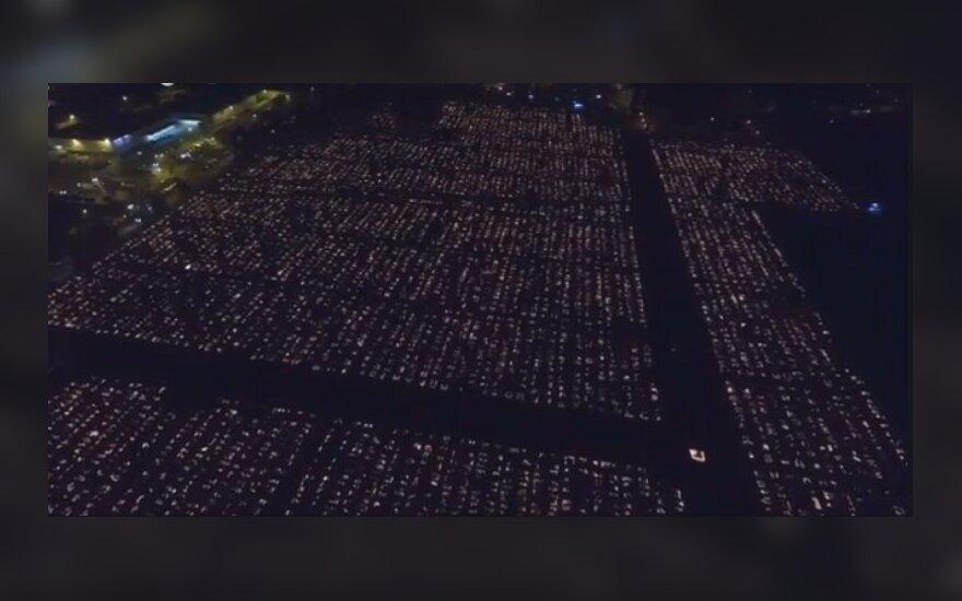 Cmentarz w Polsce sfilmowany z drona