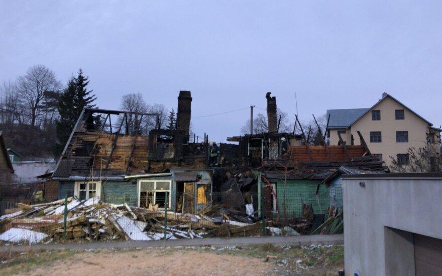 В Вильнюсе сгорел дом, погибли две женщины