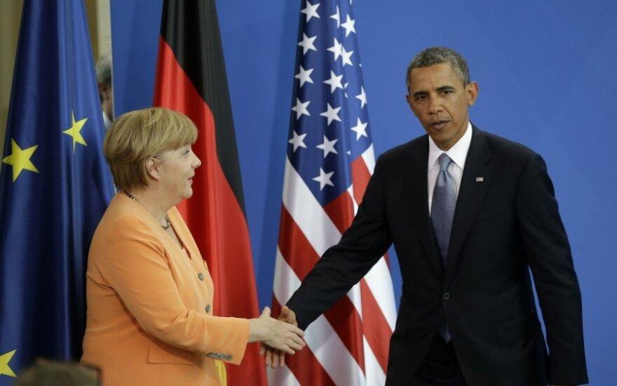 Angela Merkel ir Barackas Obama