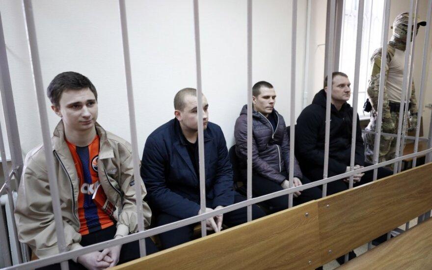 Rusija pratęsė keturių Ukrainos jūreivių areštą