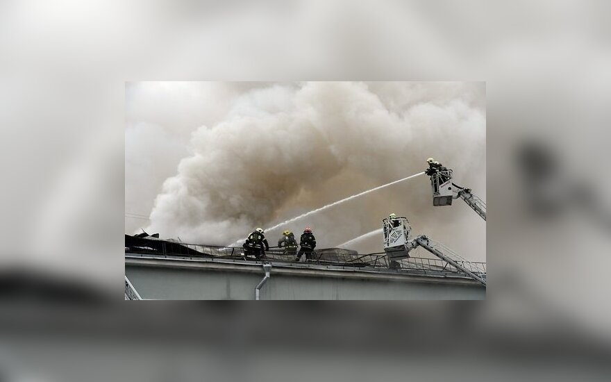 В Москве горел торговый центр: есть пострадавшие