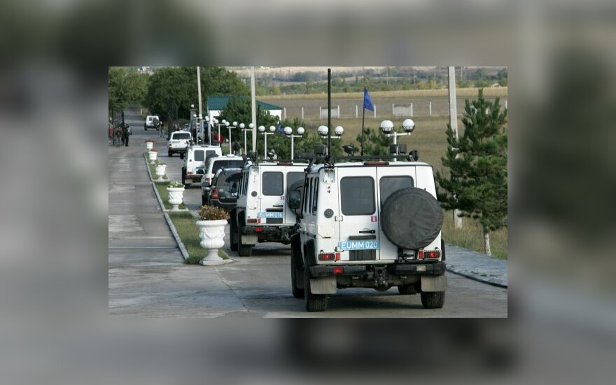 Наблюдатели ЕС в Грузии подорвались на мине
