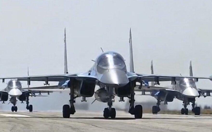 Под Воронежем приземлились первые самолеты из Сирии