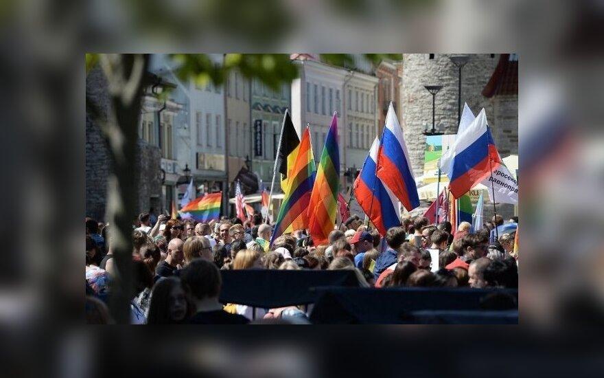 ЛГБТ-парад в Таллинне: флаги, плакаты, музыка и позитив