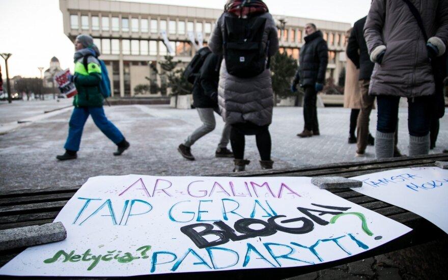 Профсоюзы госсектора Литвы договорились о проведении массовой акции протеста