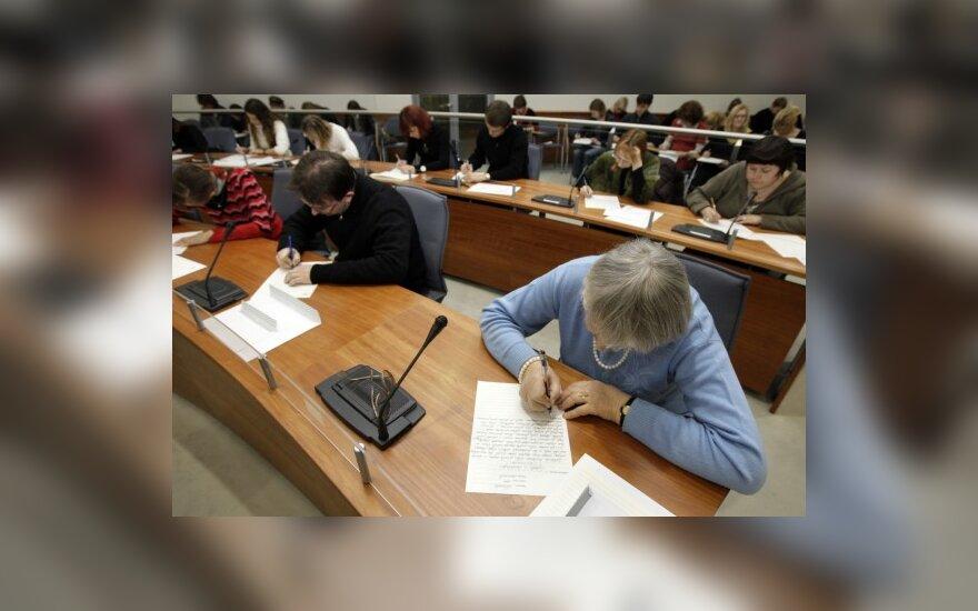 Любители литовского языка писали Национальный диктант