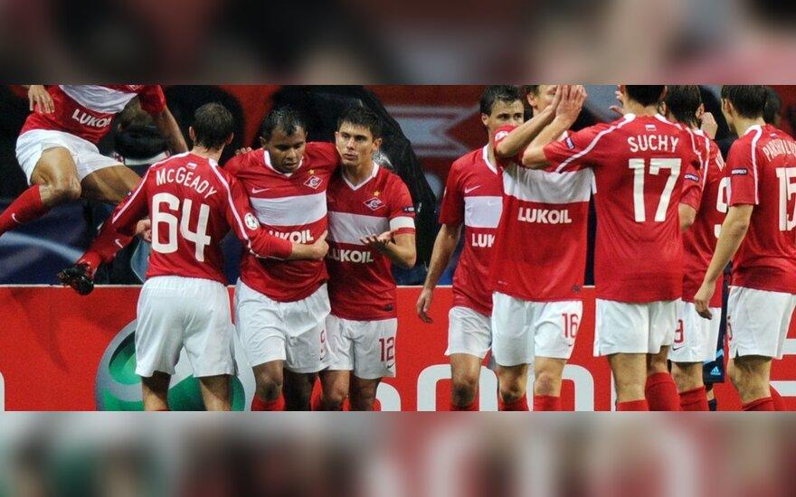 """""""Spartak"""" žaidėjai džiaugiasi"""