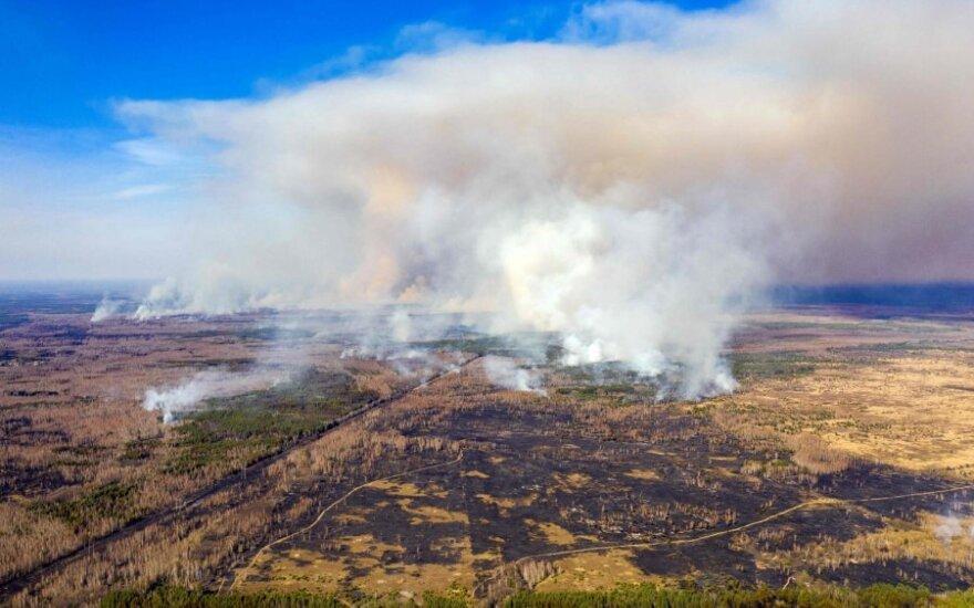 Miškų gaisrai Černobylio teritorijoje