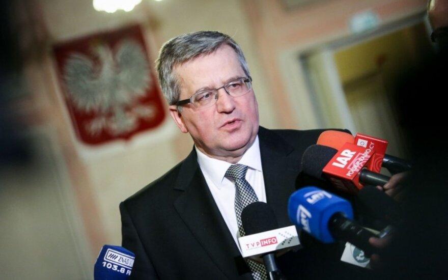 Bronisław Komorowski: Rolą Polski jest wskazywanie, że Rosja łamie prawo międzynarodowe