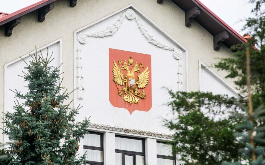 Russia's Federation Embassy in Vilnius