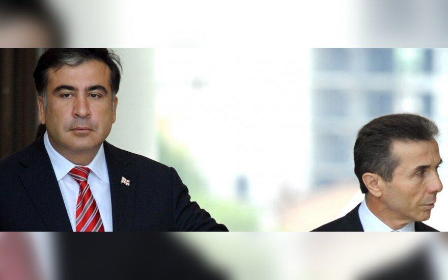Michailas Saakašvilis ir Bidzina Ivanišvilis